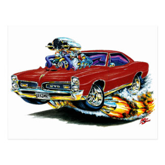 Carte Postale 1966-67 voiture marron de GTO