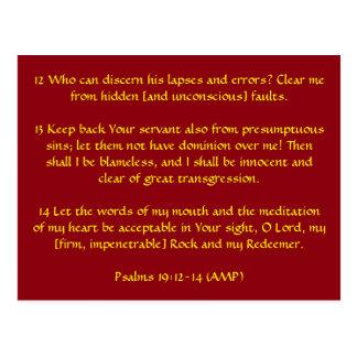 Carte Postale 19h12 de psaumes - 14 (ampère)