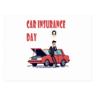 Carte Postale 1er février - jour d'assurance auto