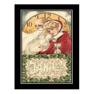 Carte Postale 1er janvier nouvelle année de vieux temps de père