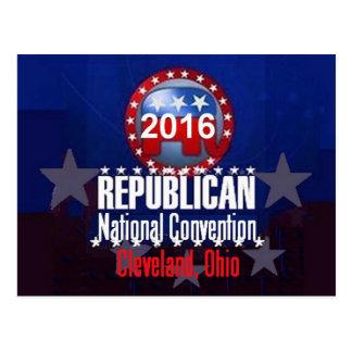 Carte postale 2016 de convention de républicain