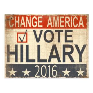 carte postale 2016 d'élection de Hillary Clinton
