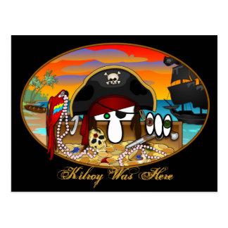 Carte postale 2 de Kilroy de pirate