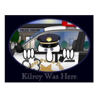 Carte postale 2 de Kilroy de police