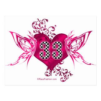 Carte Postale 33 papillons de emballage de nombre