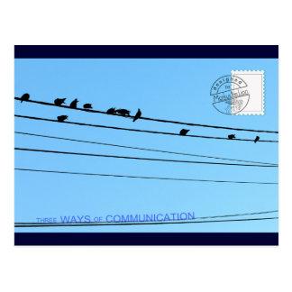 Carte Postale 3 manières de communication