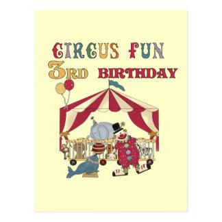 Carte Postale 3èmes T-shirts et cadeaux d'anniversaire de cirque