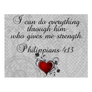 Carte Postale 4h13 chrétien de Philippiens de vers de bible