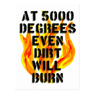 Carte Postale 5000 degrés pour la chemise noire