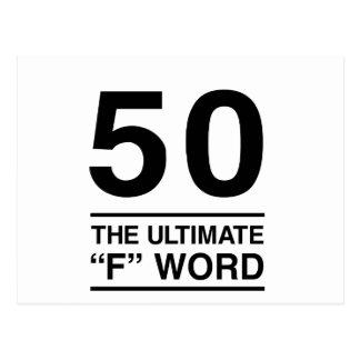 """Carte Postale 50 le mot final de """"F"""""""