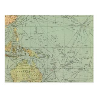 Carte Postale 68 voies de communication, l'Océan Indien