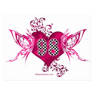 Carte Postale 98 papillons de emballage de nombre