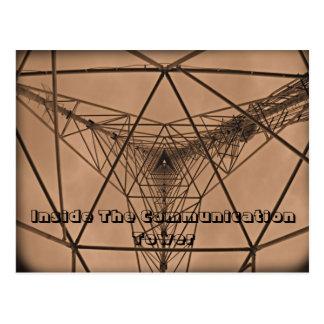 Carte Postale À l'intérieur de la tour de communication