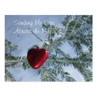 Carte Postale À travers le coeur de Saint-Valentin de milles
