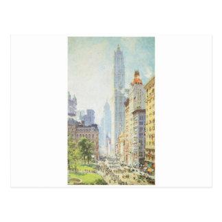 Carte Postale Abaissez Broadway en temps de guerre circa 1917