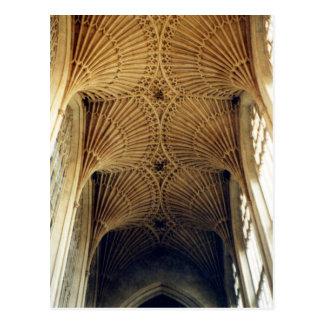 Carte Postale Abbaye de Bath, plafond voûté, Angleterre