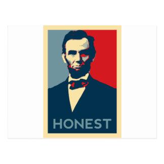 Carte Postale Abe honnête