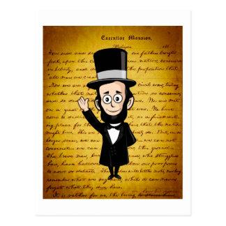 Carte Postale Abe honnête et son adresse de Gettysburg