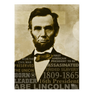 Carte Postale Abe Lincoln