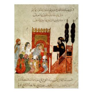 Carte Postale Abou Zayd prêchant dans la mosquée