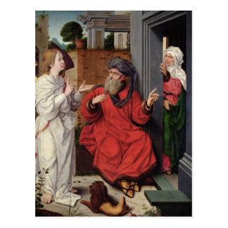 Carte Postale Abraham, Sara et un ange, c.1520