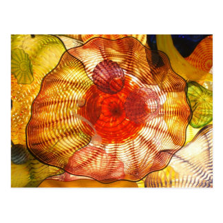 Carte Postale Abrégé sur coloré en verre
