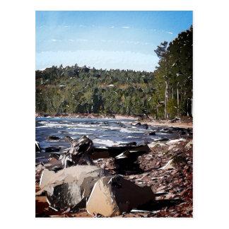 Carte Postale Abrégé sur le lac Supérieur Shoreline