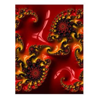 Carte Postale Abstract fractal and shapes pat. Fractal sorte
