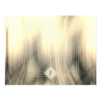 Carte postale abstraite fumeuse et fanée du