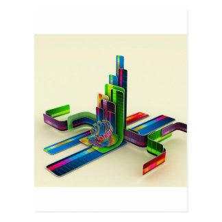 Carte Postale Accès frais abstrait les couleurs
