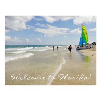 Carte Postale Accueil à la Floride/à océan et à plage
