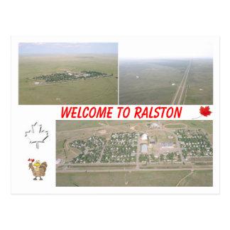 Carte Postale Accueil à Ralston, Alberta [Canada]