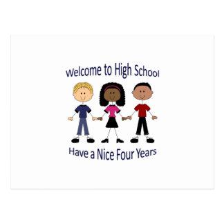 Carte Postale Accueil au lycée