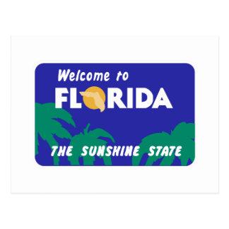Carte Postale Accueil panneau routier vers Floride - Etats-Unis