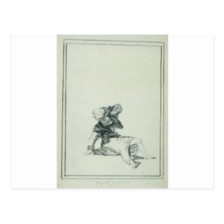Carte Postale Accusez le temps par Francisco Goya