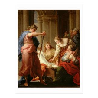 Carte Postale Achille à la cour du Roi Lycomedes avec son D
