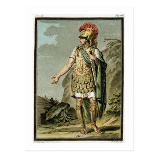Carte Postale Achille dans l'armure, costume pour 'Iphigenia