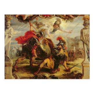 Carte Postale Achille défaisant Hector, 1630-32
