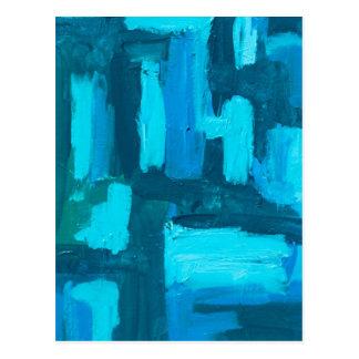 Carte Postale Acrylique Painterly abstrait de grille