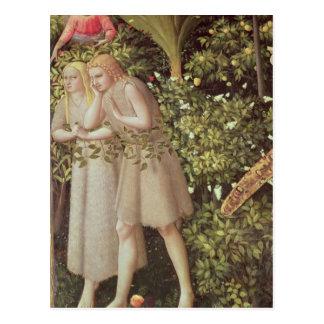 Carte Postale Adam et Ève expulsés du paradis
