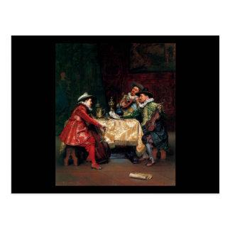 Carte Postale Adolphe Alexandre Lesrel la répétition