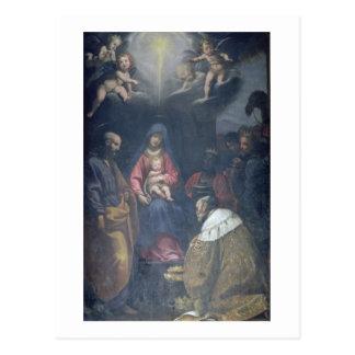 Carte Postale Adoration des Magi, 1629 (huile sur la toile)