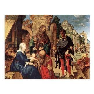 Carte Postale Adoration des Magi par Albrecht Durer