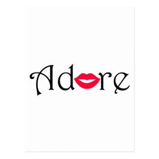Carte Postale Adorez avec un baiser