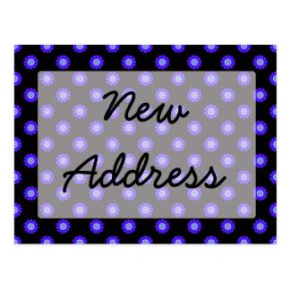 Carte Postale adresse florale de noir bleu nouvelle