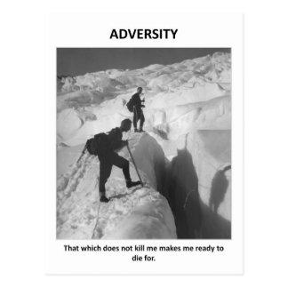 Carte Postale adversité-que-qui-faire-non-mise à mort--faire-je