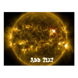 Carte Postale Aérolithe à énergie solaire d'éruption de fusée de