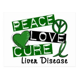 Carte Postale Affection hépatique de traitement d'amour de paix