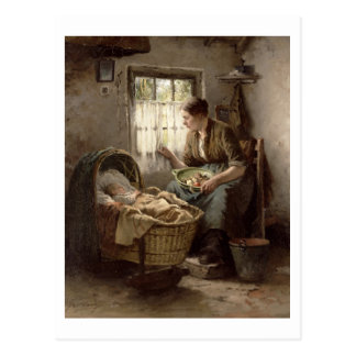 Carte Postale Affection maternelle (huile sur la toile)
