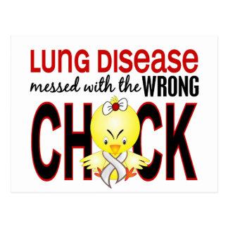 Carte Postale Affection pulmonaire salie avec le poussin faux
